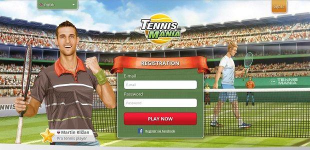 Tenisová online hra